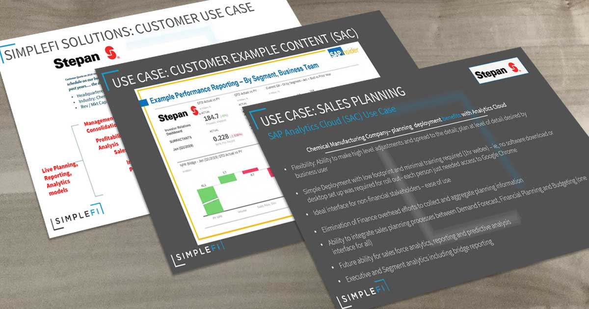 Customer Use Case – Stepan